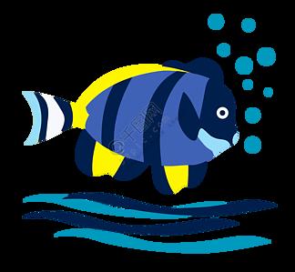 彩色鱼类生物