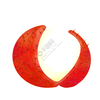 红色剥皮荔枝