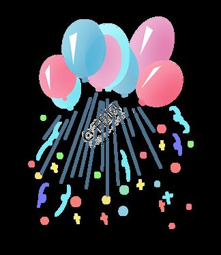 彩色漂浮气球装饰