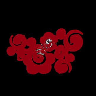 红色的祥云免抠图