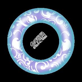 创意白色图形泳圈