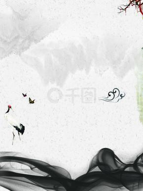 电商复古水墨中国风古风banner背景