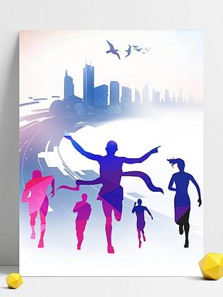 跑步<i>奧</i><i>運</i><i>會</i>體育<i>運</i>動背景海報