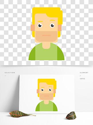卡通扁平化男性用户头像设计