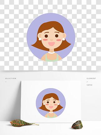 卡通扁平化女孩人物设计