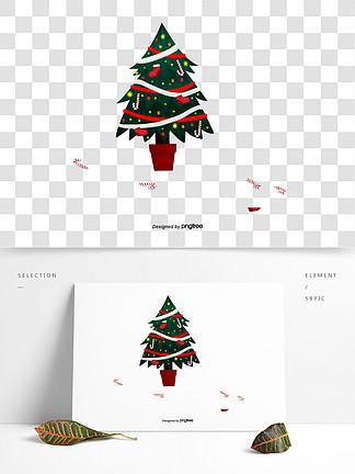 圣誕節綠色圣誕樹裝飾