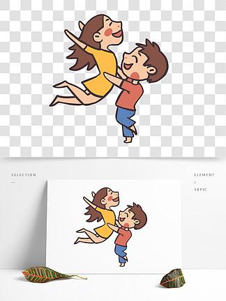 情侣开心?#24403;?#21407;创手绘卡通素材
