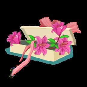手绘卡通植物化花束