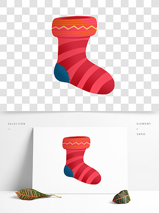 手繪卡通圣誕節襪子