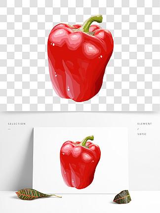 手绘蔬菜辣椒插画