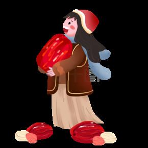 腊八节人物和红枣