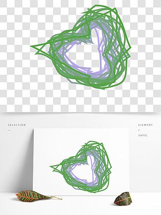 ai手绘矢量图案心形状卡通