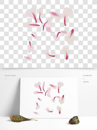 白色漂浮的花瓣插画