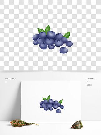 手绘蓝莓矢量素材