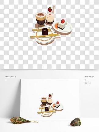 蛋糕奶茶酸奶草莓巧克力png格式