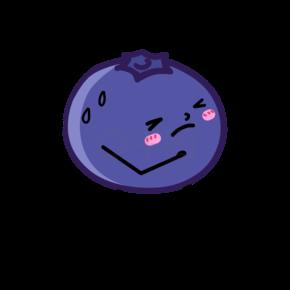 漫画版跑步运动的蓝莓