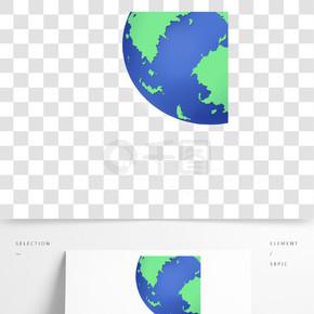 藍色創意科技地球元素