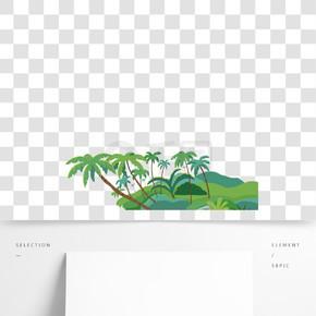 綠色植物休閑植物元素