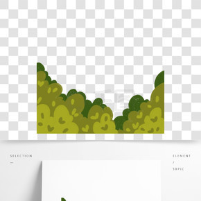 綠色圓弧植物大樹元素