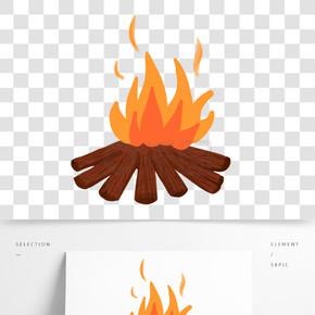 灰色創意火焰元素