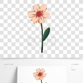 粉色植物花朵元素
