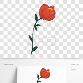彩色創意植物花朵元素