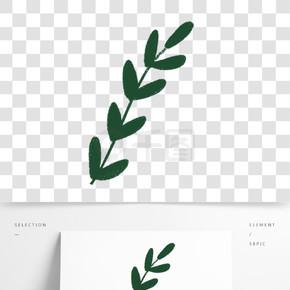 綠色植物樹葉元素