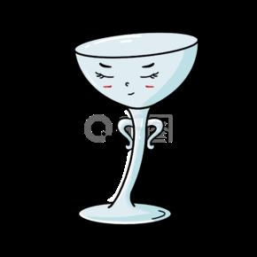创意高脚杯卡通表情杯子