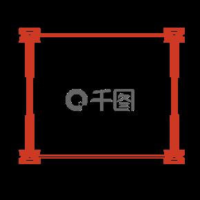 传统中国风红色边框