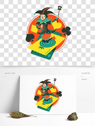 图片免费下载 扑克牌小丑素材 扑克牌小丑模板 千图网图片
