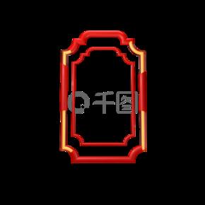中国风红色边框装饰