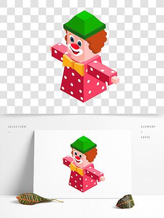 2.5D小丑卡通png素材