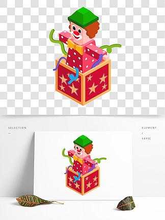 2.5D愚人節盒子卡通png素材