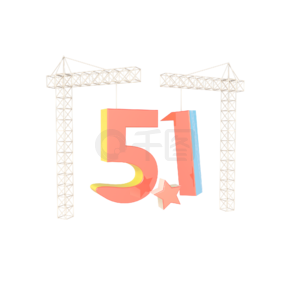 C4D立体创意场景51劳动节海报装饰