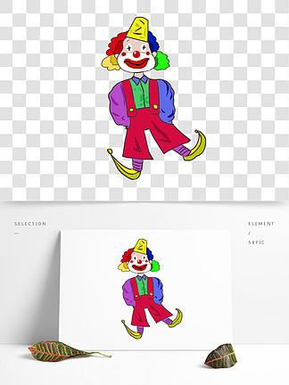 愚人节小丑装饰插画