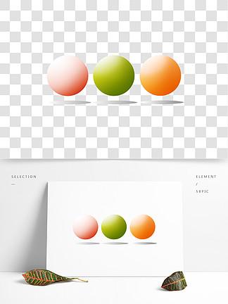 漂浮圓球圖案裝飾插圖