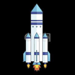 世界航天日火箭插画