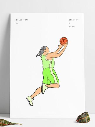 戶外打籃球的男孩