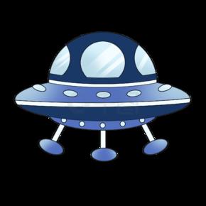 世界航天日飞碟插画