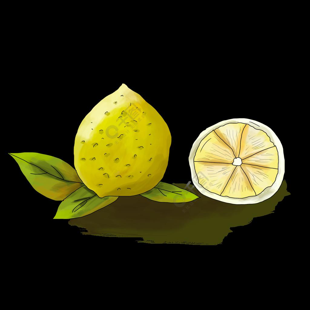 柠檬手绘元素素材下载