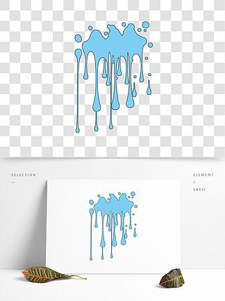 蓝色笔触笔刷效果