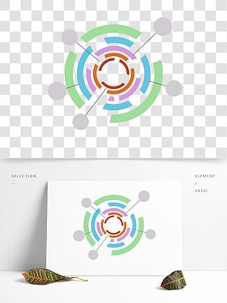 彩色分类比例图png免抠图