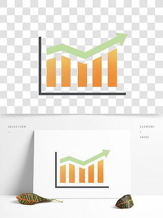 数据统计图折线图png免抠图