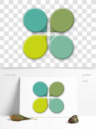 彩色圆形图表插画