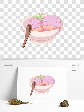 杯装冰淇淋插画
