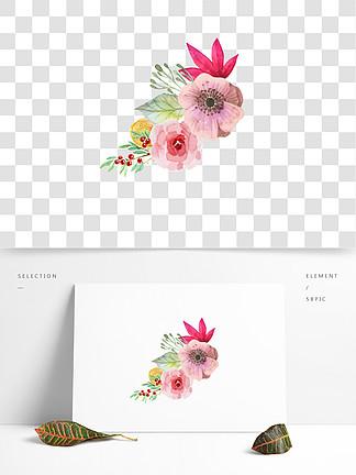 中国风?#27431;?#25163;绘水彩花朵