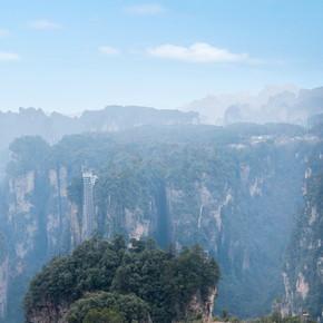 湖南张家界国家森林公园老房子空中田园
