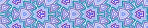 蓝色无缝边卷轴。几何水彩画