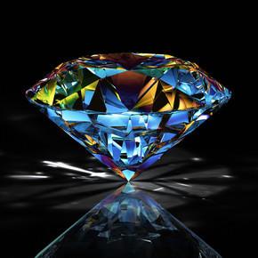 黑色背景上的钻石