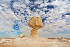 在埃及的白色沙漠
